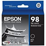 Epson T098120 (98) Black Hi-Definition High Capacity OEM Genuine Inkjet/Ink Cartridge - Retail