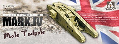 Takom WWI Heavy Tank Mark IV Tadpole Model Kit (1/35 Scale)
