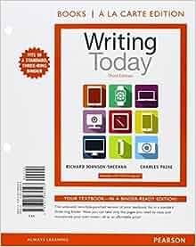 Writing Today, Books a la Carte Edition Plus REVEL -- Access Card