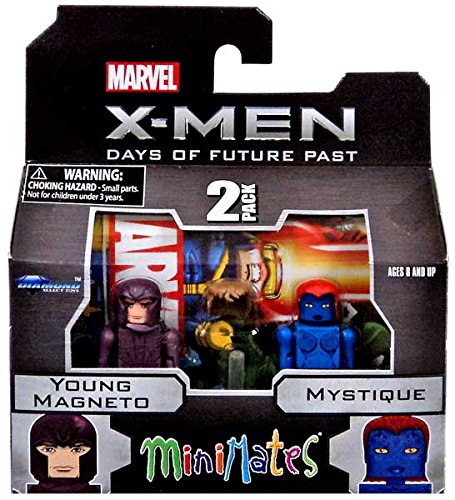 Marvel Minimates X-Men Days of Future Past Series 58 Mini Figure 2-Pack Young Magneto & Mystique - 1