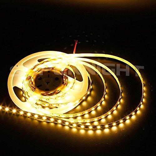 Dumvoin Warm White Color 5M/16.5Ft 5050 Smd 300Leds 60Leds/M Ip68 Waterproof Flexible Led Strip Light Nanometer Waterproof Led Strip Indoor Or Outdoor Led Strip Light Cabin Led Light