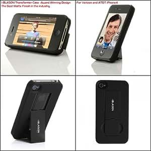 i-BLASON Transformer Black iPhone 4 4S Case (6 Colors) Stand holder Cover Verizon ATT Sprint iphone 4S - Award Winning Design