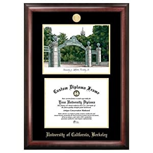 Cal Golden Bears Diploma Frame with Limited Edition Lithograph by Landmark Publishing