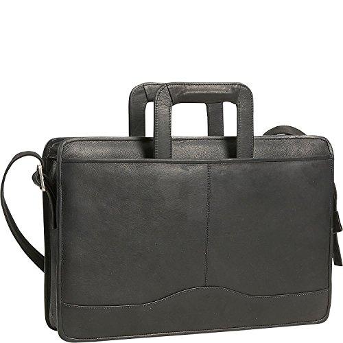 david-king-leather-single-gusset-drop-handle-portfolio-in-black