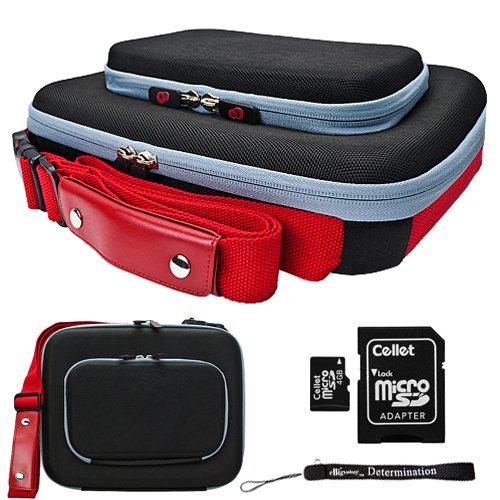 Black Red Ultimate Smart Travel Organizer Hard