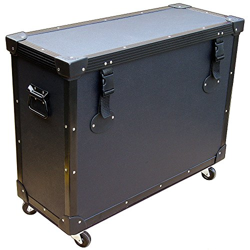 """Monitors - Lcd'S W/Stands Attached 'Tuffbox' Light Duty Road Case W/Wheels - 25"""" To 28"""" Screens"""