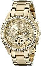 Comprar Fossil ES2683 - Reloj cronógrafo de cuarzo para mujer con correa de acero inoxidable bañado, color dorado