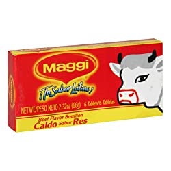 Maggi, Bouillon Tablet Beef 6Ct, 2.32 OZ (Pack of 24)