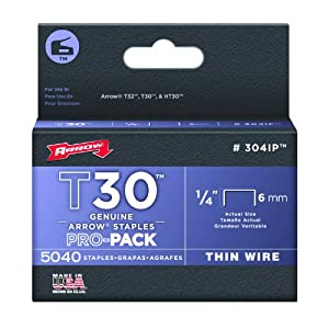 Arrow 304IP Genuine T30/T32 1/4-Inch Staples, 5,040-Pack