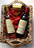 Deluxe French Red & White Wine & Thorntons Moments Hamper for 2 - free gift wrapping