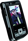 Krusell Dynamic Leather Case for Sony Ericsson T715 - Black