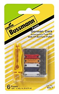 amazon.com: bussmann kg-7 german/european fuse kit: automotive fuse box or breaker box