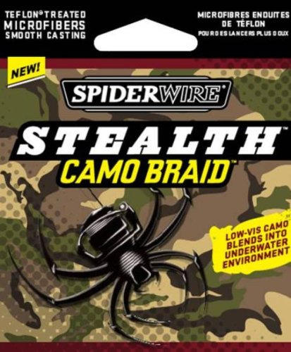 Spiderwire  Stealth Braid 125-Yard Spool (Camo, Pound/Diameter 15/4)