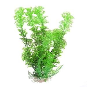 Green Plastic Aquarium Aquascaping Ornament Underwater Plant
