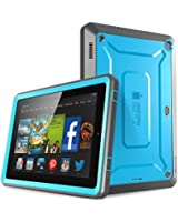 Fire HD 7 Case, SUPCASE [Heavy Duty] Amazon Fire HD 7 Case (4th Generation) 2014 Release [Unicorn Beetle PRO Series] Full-body Rugged Hybrid Protective Case Cover with Built-in Screen Protector for Amazon Fire HD 7 (4th Generation), Blue/Black - Dual Layer Design + Impact Resistant Bumper