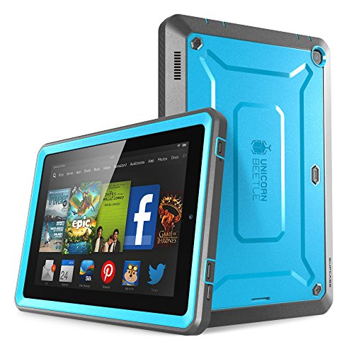 Fire Hd 6 Case, Supcase [Heavy Duty] Amazon Fire Hd 6 Case (4Th Generation) 2014 Release [Unicorn Beetle Pro Series] Full-Body Rugged Hybrid Protective Case Cover With Built-In Screen Protector For Amazon Fire Hd 6 (4Th Generation), Blue/Black - Dual Laye front-1033768