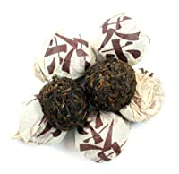 Yunnan Tuo Cha Pu'erh Tea - 24 pieces - Pu-erh Cake, Pressed Puerh, Recommeded Tea for Weight Loss - Individually Wrapped - Loose Leaf - Nature's Tea Leaf