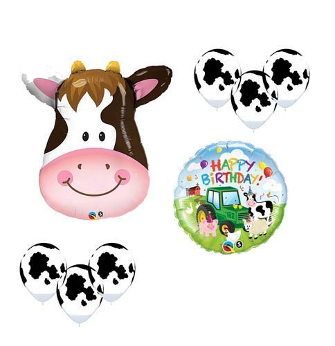 1 X Happy Birthday Cow Barnyard Friends Birthday Party Supplies Kit Farm Tractor by Anagram