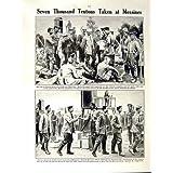 1917 PRISONNIERS ALLEMANDS MESSINES DE LA BATAILLE MESSINES DE CARTE DE GUERRE