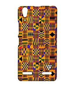 Vogueshell Sanke Print Pattern Printed Symmetry PRO Series Hard Back Case for Lenovo A6000