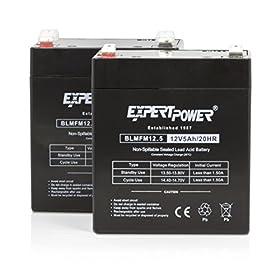"ExpertPoweru00ae 12v 5ah SLA Home Alarm Battery With F2 Terminals (.250"") || EXP1250"