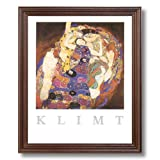 Gustav Klimt The Virgin Contemporary Home Decor Wall Picture Cherry Framed Art Print