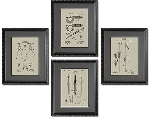 Patent Quad - Engineering Tools- Engineer Mechanical Large Office Wall Art 11x14 (Engineer Wall Art compare prices)