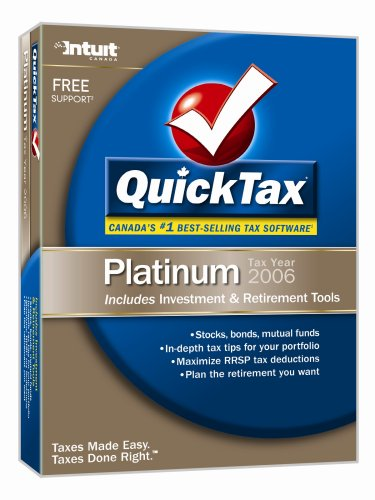 Quicktax Platinum 2006 Investment and Retirement [Old Version]