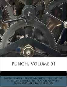 Punch Volume 51 Mark Lemon Henry Mayhew Tom Taylor