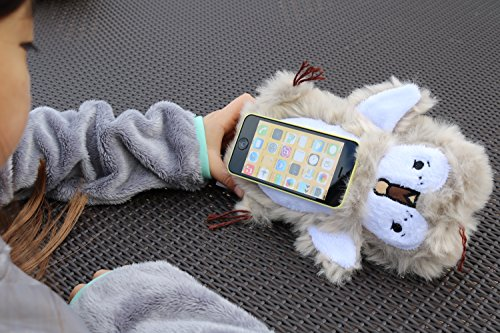 PawdPet Plush Protective Pals Mr. Hoots (Owl) Small Magnetic Holder & Carrier for iPhone, iPod Touch, and mobile devices up to 4'' screen size