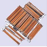 Ostart 5 Sets of 15 Sizes 8'' (20cm) Double Pointed Carbonized Bamboo Knitting Kits Needles Set (2.0mm - 10.0mm)
