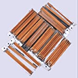 Ostart 5 Sets of 15 Sizes 8'' (20cm) Double Pointed Carbonized Bamboo Knitting Kits Needles Set (2.0mm - 10.0mm)