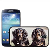 Two Dachshund Dogs Hard Case Clip On Back Cover For Samsung Galaxy S4 i9500