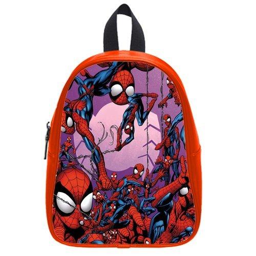 Fashion High-Grade Pu Leather Spiderman School Book Travel Bag Backpack Daypack For Boys Girls Medium