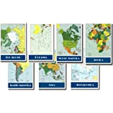 Map of the Continents 7 Poster Set