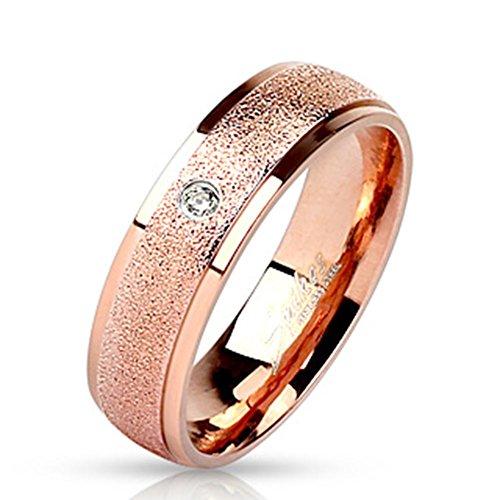 Paula & Fritz anello in acciaio inox 316L anello dimensioni: 4715-con 6-8mm larghezza Coppia con Sandy Centro e Y 22R m3166K, acciaio inossidabile, 53 (16.9), colore: black, cod. R-M3166K_70