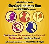 Image de Sherlock Holmes Box - 55 Kriminalgeschichten von Arthur Conan Doyle (Gesamtlaufzeit 49:23