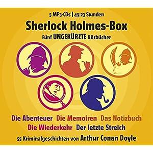 Sherlock Holmes Box - 55 Kriminalgeschichten von Arthur Conan Doyle (Gesamtlaufzeit 49:23