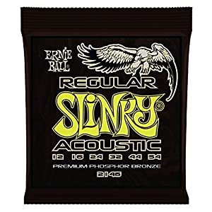 Ernie Ball 2146 Regular Slinky Acoustic Phosphor Bronze String Set (12 - 54)