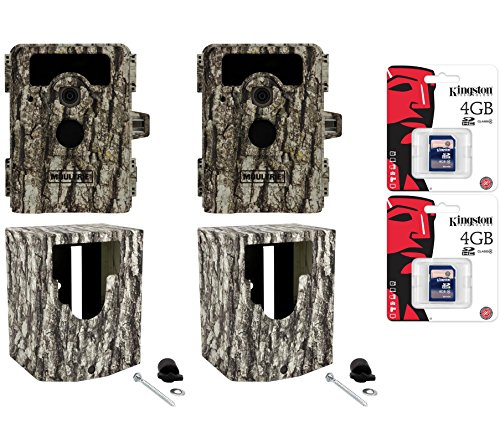 (2) Moultrie Game Spy D-555I No Glow Trail Cameras + Security Boxes + Sd Cards