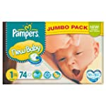 Pampers New Baby Size 1 (2-5kg) Jumbo...