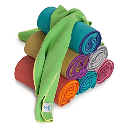 "YogaRat YOGA TOWEL: 100% Microfiber with textured weave. Offered in three mat-length sizes (26"" x 72"", 24"" x 72"" and 24"" x 68) and a smaller hand-towel size (15"" x 24"", sold separately)."