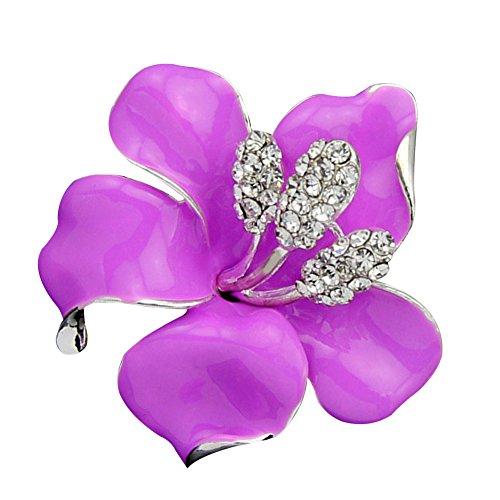 Contever® Bling Rose Fiore Spilla Pin Gioielli di Moda Annata Eleganti Colore: Pink