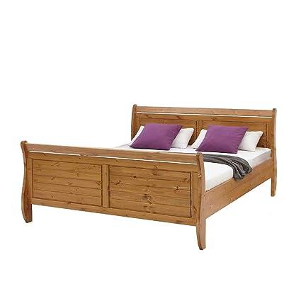 Holzbett aus Kiefer Massivholz Landhaus Pharao24