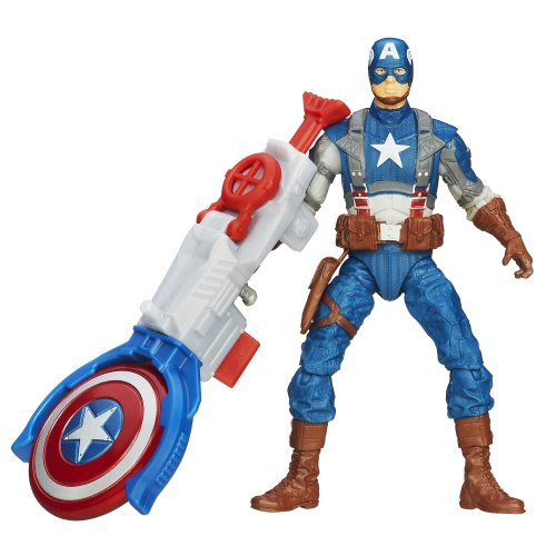 Marvel, Captain America The Winter Soldier Movie Action Figure, Shield Blitz Captain America, 3.75 Inches
