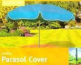 "Extra Large 6' 4"" Waterproof Jumbo Parasol / Garden Umbrella Cover"