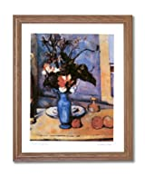 Paul Cezanne French Victorian Blue Flower Contemporary Home Decor Wall Picture Oak Framed Art Print