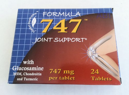 Formula 747 Joint Support With Glucosamine, Nsm, Chondroitin & Turmeric 24 Tablets (4 Pack)... Iwgl