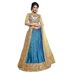 Manvaa Blue Colour Banarasi Silk Lehenga Choli With Dupptta