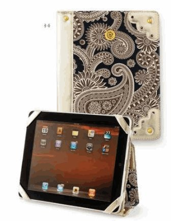 Mud Pie Black Paisley iPad Case